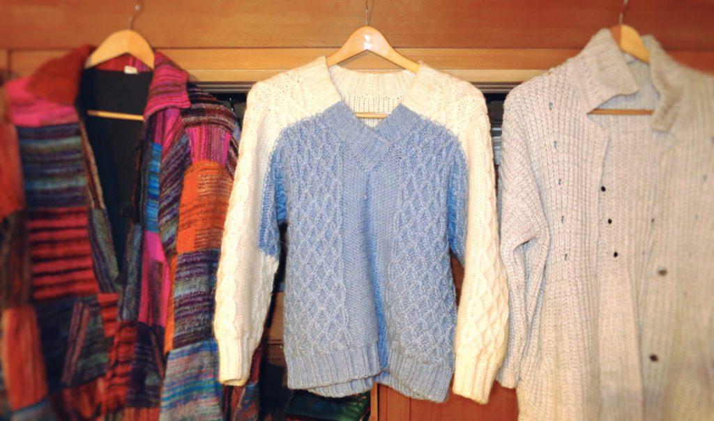 秋冬の着物の防寒は「セーター」で着物をゆるくカジュアルに