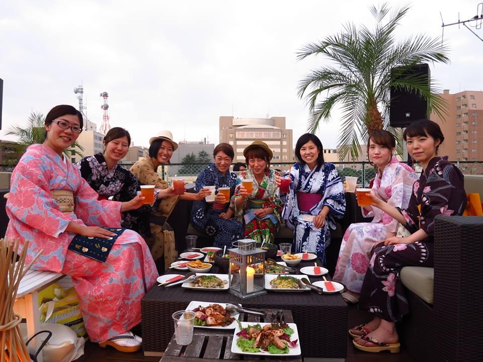 【イベントレポ】7/29(土)浴衣でon the Roof飲みin青森