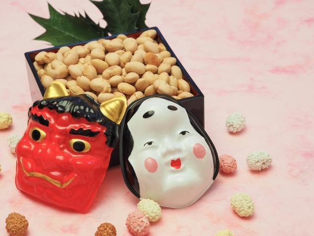 着物組青森支部2018「櫛引八幡宮の開運福豆で幸運をGetしよう!」
