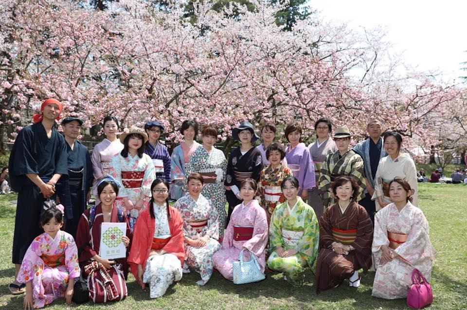 【着物組・青森支部イベント】第3回弘前公園で着物でお花見しよう!